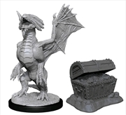 Dungeons & Dragons - Nolzur's Marvelous Unpainted Minis: Bronze Dragon Wyrmling & Treasure | Games