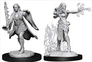 Dungeons & Dragons - Nolzur's Marvelous Unpainted Minis: Multiclass Warlock Sorcerer Female | Games