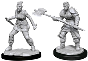 Dungeons & Dragons - Nolzur's Marvelous Unpainted Minis: Orc Barbarian Female | Games