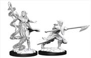 Magic the Gathering - Unpainted Miniatures: Jorager Warcaller & Treespeaker | Games