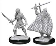 Pathfinder - Deep Cuts Unpainted Miniatures: Elf Fighter Male   Games