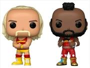 WWE - Hulk Hogan & Mr T US Exclusive Pop! Vinyl 2-pack [RS] | Pop Vinyl