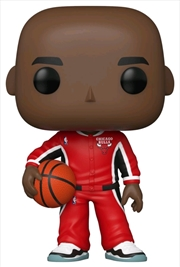 NBA: Bulls - Michael Jordan Red Warm-Ups US Exclusive Pop! Vinyl [RS] | Pop Vinyl