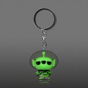 Pixar - Alien Remix Buzz Glow US Exclusive Pocket Pop! Keychain [RS] | Pop Vinyl