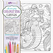 Mesmerising Mermaid Colouring Canvas | Colouring Book