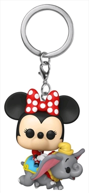 Disneyland 65th Anniversary - Minnie Dumbo Ride Pocket Pop! Keychain | Pop Vinyl