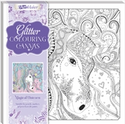 Magical Unicorn Glitter Colouring Canvas | Merchandise