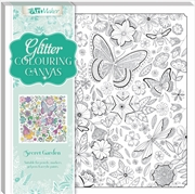 Secret Garden Glitter Colouring Canvas | Merchandise