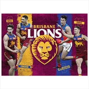 Brisbane Lions 4 Player 1000 Piece Puzzle | Merchandise