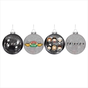 Friends Bauble Set Of 4 | Homewares