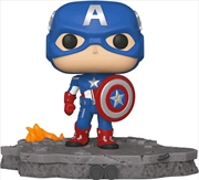 Avengers - Captain America (Assemble) US Exclusive Pop! Deluxe [RS] | Pop Vinyl