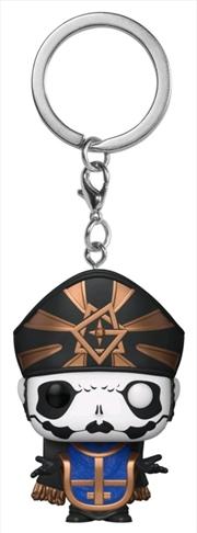 Ghost - Papa Emeritus IV Metallic US Exclusive Pocket Pop! Keychain [RS] | Pop Vinyl