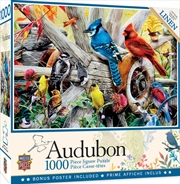 Audubon Backyard Birds 1000 Piece Puzzle | Merchandise