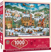 Holiday Christmas Eve Fly By 1000 Piece Puzzle | Merchandise