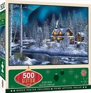 Holiday Glitter Northern Lights 500 Piece Puzzle | Merchandise
