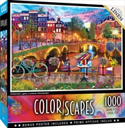 Colorscapes Amsterdam Lights 1000 Piece Puzzle | Merchandise