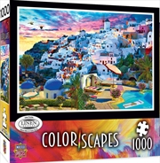 Colorscapes Santorini Sky 1000 Piece Puzzle | Merchandise