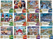 Christmas Collection 12 Pack Puzzle Assortment   (4x 300, 4x 500, 4x 1,000) | Merchandise