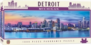 City Panoramic Detroit 1000 Piece Puzzle | Merchandise