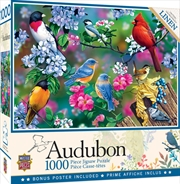 Audubon Songbird Collage 1000 Piece Puzzle | Merchandise