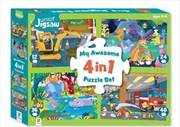 My Awesome 4 In 1 Jigsaw Fun | Merchandise