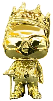 Notorious BIG - Biggie Gold Chrome US Exclusive Pop! Vinyl [RS] | Pop Vinyl