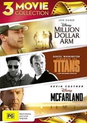 Million Dollar Arm / McFarland USA / Remember The Titans | DVD