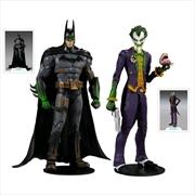 "Batman Arkham Asylum - Batman & Joker 7"" Action Figure 2-pack | Merchandise"