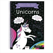 Unicorns: Scratch Art | Colouring Book