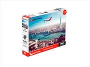 Qantas A380 Over London 1000 Piece Puzzle | Merchandise