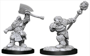 Magic the Gathering - Unpainted Miniatures: Dwarf Fighter & Dwarf Cleric | Games