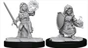 Pathfinder - Deep Cuts Unpainted Miniatures: Halfling Cleric Female | Games