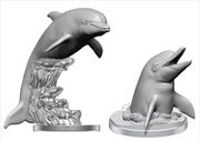 WizKids - Deep Cuts Unpainted Miniatures: Dolphins | Games