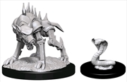 Dungeons & Dragons - Nolzur's Marvelous Unpainted Miniatures: Iron Cobra & Iron Defender | Games