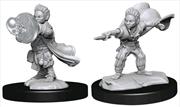 Pathfinder - Deep Cuts Unpainted Miniatures: Halfling Wizard Male | Games