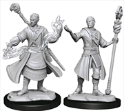 Dungeons & Dragons - Nolzur's Marvelous Unpainted Miniatures: Half-Elf Wizard Male | Games