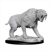WizKids - Deep Cuts Unpainted Miniatures: Saber-Toothed Tiger | Games