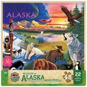Wood Fun Facts Alaska Wildlife 48 Piece Puzzle | Merchandise