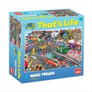 Goliath Puzzle Thats Life Car Race Puzzle 1,000 pieces | Merchandise