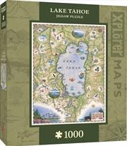 Lake Tahoe Map Puzzle 1,000 pieces | Merchandise