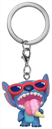 Lilo & Stitch - Stitch Summer Sented US Exclusive Pocket Pop! Keychain [RS] | Pop Vinyl
