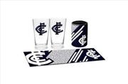 Carlton Blues AFL Bar Mat Runner Can Cooler Glasses Bar Essential Pack Essentials | Merchandise