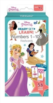 Disney Princess: Ready Set Learn! Numbers 1-100 Flashcards | Paperback Book