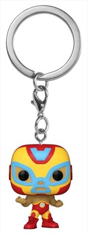 Iron Man - Luchadore Iron Man Pocket Pop! Keychain | Pop Vinyl