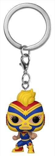 Captain Marvel - Luchadore Captain Marvel Pocket Pop! Keychain | Pop Vinyl