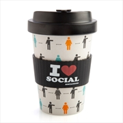 I Heart Social Distancing Eco-to-Go Bamboo Cup   Merchandise