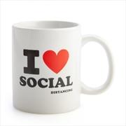 I Heart Social Distancing Coffee Mug | Merchandise