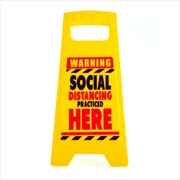 Social Distancing Desk Warning Sign | Merchandise