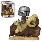 Star Wars: The Mandalorian - Mandalorian and the Child on Bantha Pop! Deluxe | Pop Vinyl