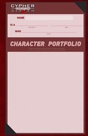 Cypher RPG System Character Portfolio | Merchandise